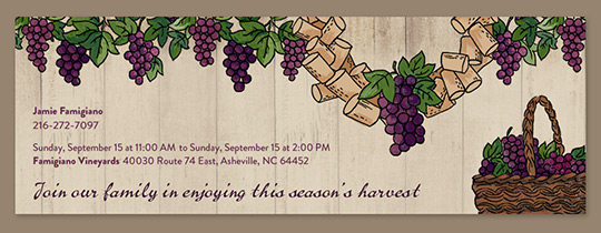 Harvest Season Invitation