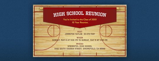 High School Gym Invitation