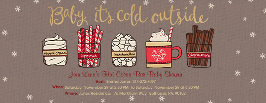 Hot Cocoa Shower Invitation