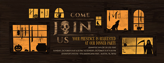 House of Horrors Invitation