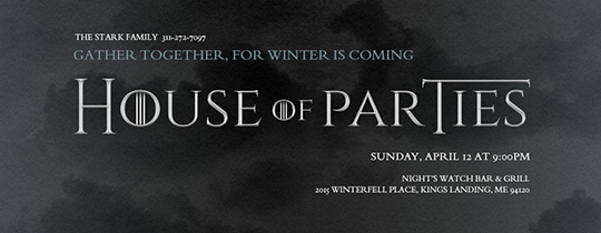 game of thrones, viewing party, watch party, tv show,