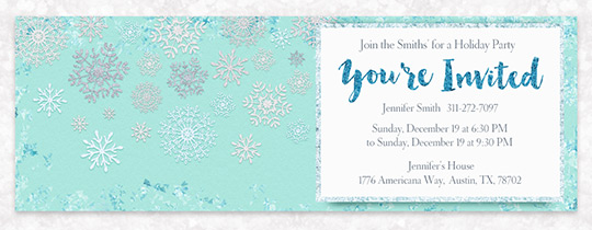 Icy Snowflakes  Invitation