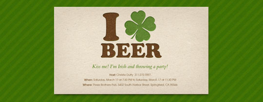 beer, four leaf clover, ireland, irish, shamrock, st. pat's, st. patrick, st. patrick's day