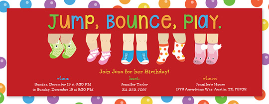 Jump Bounce Play Invitation