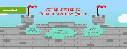 Kid Castle Invitation