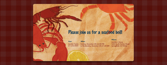 Lobster Boil Invitation