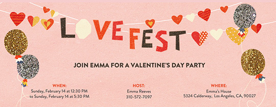 Love Fest Invitation