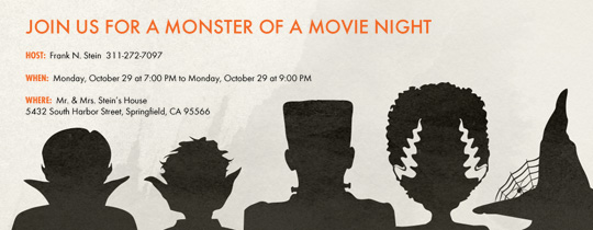 Monster Night Invitation