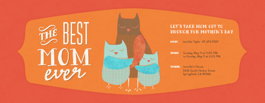 mother's day, owl, brunch, owls