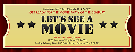 Movie Ticket Invitation