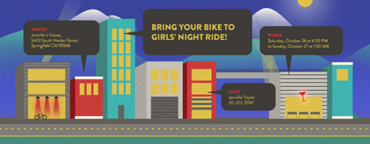 Night Ride Invitation