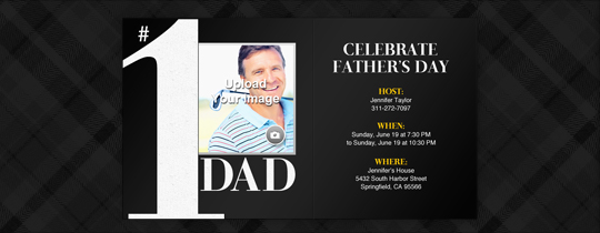 Number 1 Dad Invitation