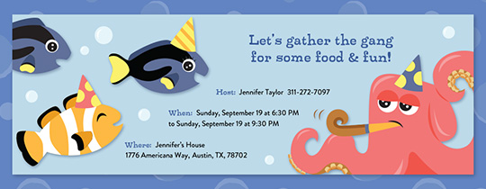 Ocean Birthday Party Invitation