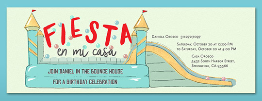 Party In The House Invitation