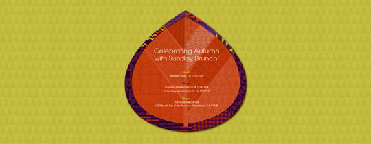 Patchwork Leaf Invitation