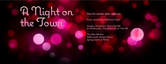 Pink Lights Invitation