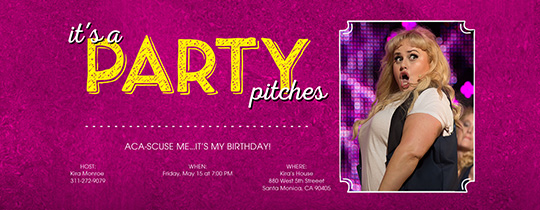 Pitch Perfect, birthday for her, movie, movie night,