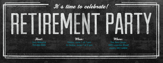 Retirement Farewell free online invitations – Farewell Invitations Templates
