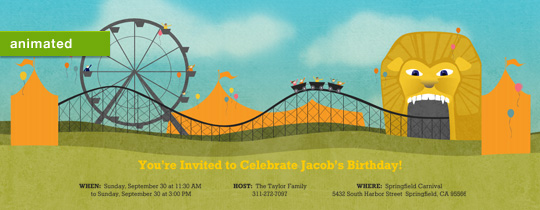 Roller Coaster Invitation