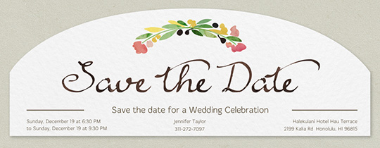 Save the Date Flora Invitation
