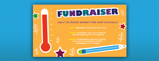School Fundraiser Invitation
