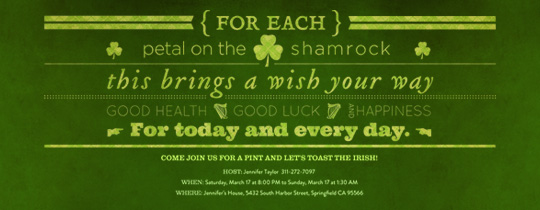 Shamrock Poem Invitation