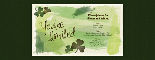 Shamrocks Invitation