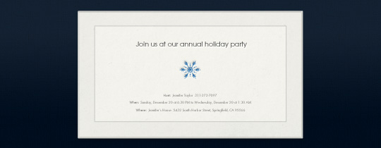 Simple Snowflake Invitation