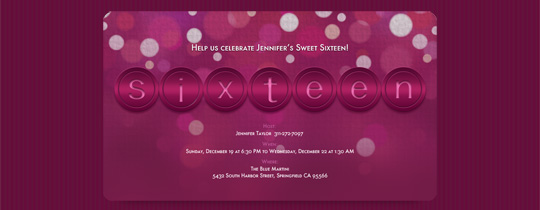 Sixteen Invitation