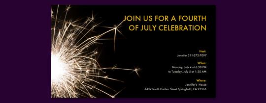 Sparks Invitation