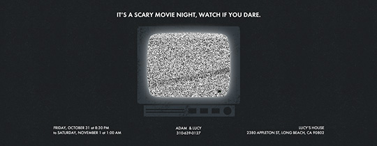 static, tv, movie night, halloween, marathon, watch party, viewing party, animated