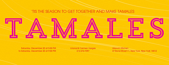 Tamales Invitation