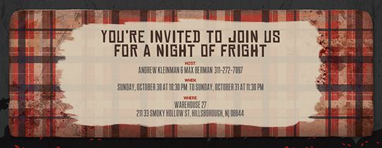 Tattered Plaid Invitation