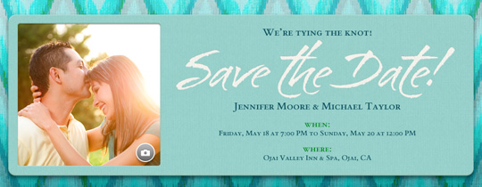 photo, picture, save the date, teal