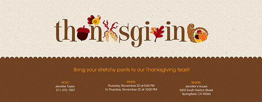 Thanksgiving Letters Invitation