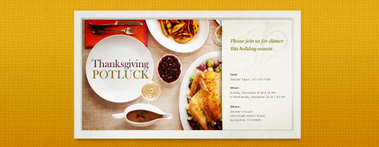 Thanksgiving Spread Invitation