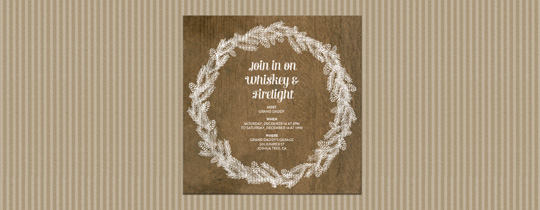 White Wreath Invitation