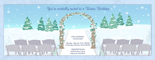 Winter Celebration Invitation