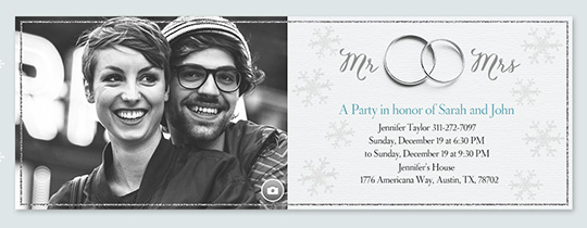 Winter Wedding Band Invitation