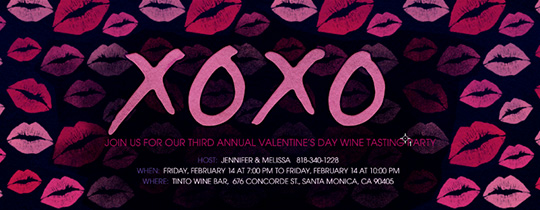 XOXO Kisses Invitation
