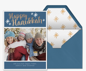 Hanukkah Stars Photo Invitation