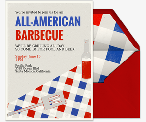 All American BBQ Invitation