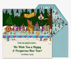Woodland New Years Invitation
