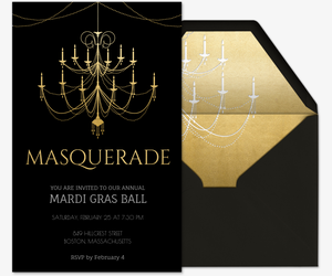Mardi Gras Ball Invitation