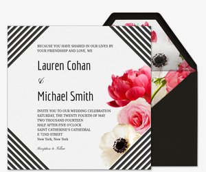 Love Blooms Wedding Invitation