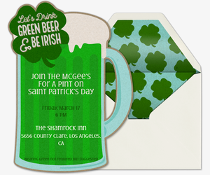 Green Beer Invitation