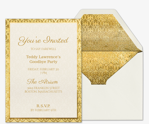 Golden Anniversary Invitations with beautiful invitations example