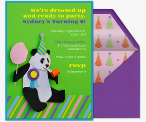Birthday Bear Invitation