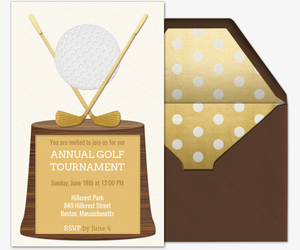 Golf Trophy Invitation