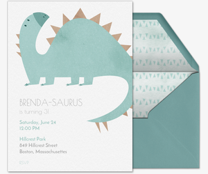 Stegosaurus Invitation